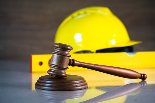 Construction law. concept image