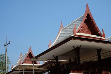 Aluminium Prints Monument traditional Thai house
