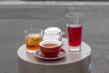 Teas served on small round table