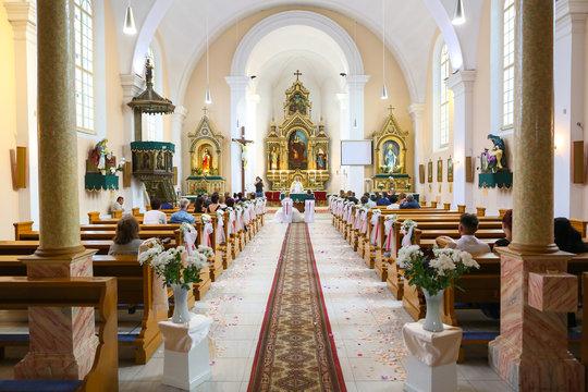 Interior of chatolic church