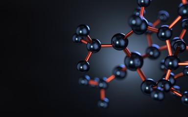 molecule model. Science concept. 3d rendering,conceptual image.