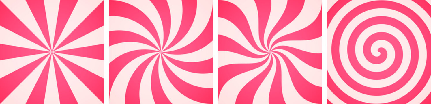 Set of sweet candy abstract backgrounds