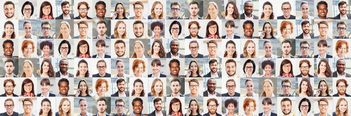 Panorama Portrait Collage von Geschäftsleuten