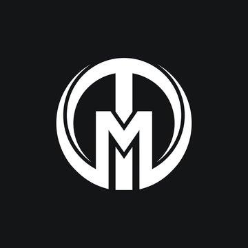 Letter TM, MT, logo vector design inspiration
