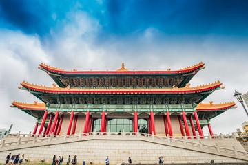 Chiang Kai-shek Memorial Hall and  Taiwan National concert hall buildings Wall mural