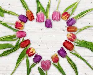 Tulpen Herz Geschenk Aufmerksam