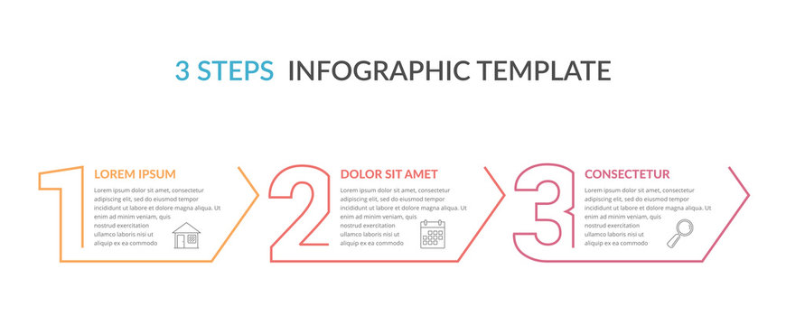 Three Steps Infographic Template