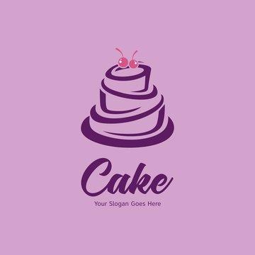 Wedding cake logo design