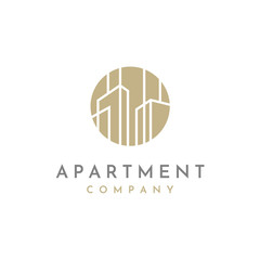 Simple Abstract City Building / Real Estate logo design