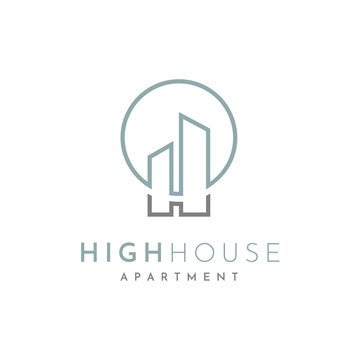 Initial H for House, Home, Historical, Hotel logo design