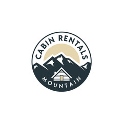 Mountain view with cabin for family village house rent