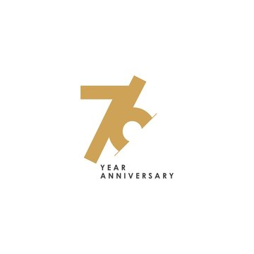 76 Year Anniversary Vector Template Design Illustration
