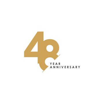 48 Year Anniversary Vector Template Design Illustration