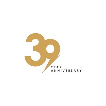 39 Year Anniversary Vector Template Design Illustration