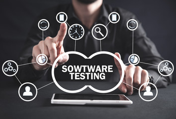Software Testing. Internet, Business, Technology Concept