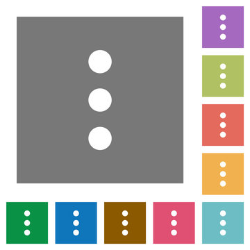 More options square flat icons