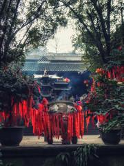 China Sichuan Dujiangyan Mountain, Qingcheng Unesco World Heritage site