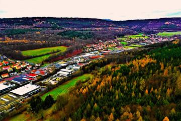 Bad Brückenau Luftbilder - Bad Brückenau in Bayern aus der Luft