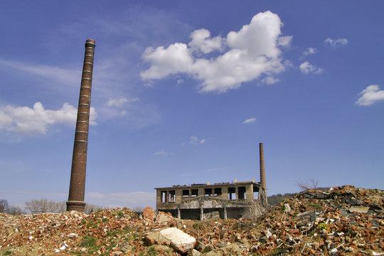 abrissgelände auf alter industriebrache