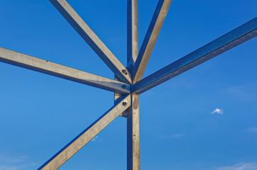 Corner of scaffolding