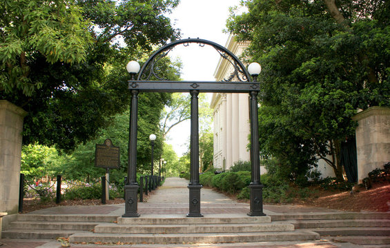 The Arch at the entrance of North Campus at UGA.
