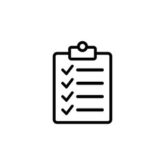 check list icon symbol vector