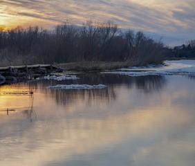 Tranquil sunset scene over a lake in Minnesota
