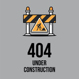 Website under construction  Internet 404 error page not