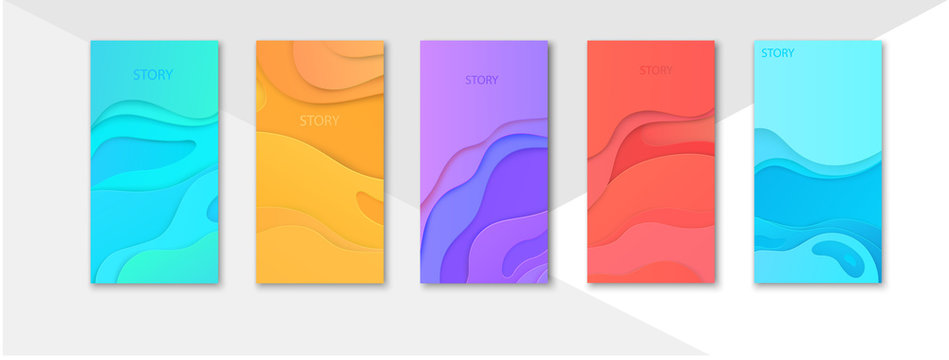 Colorful editable templates for social networks stories, instagram story, shopping.