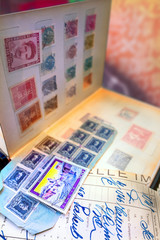 Photo sur Plexiglas Imagination Old fashioned stamps album series