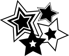 vector image of star