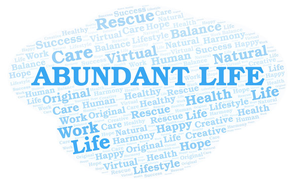 Abundant Life word cloud.