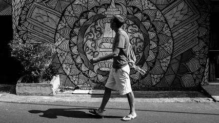 Blackwhite streetart indonesia
