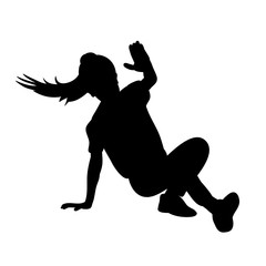 white background black silhouette girl dance
