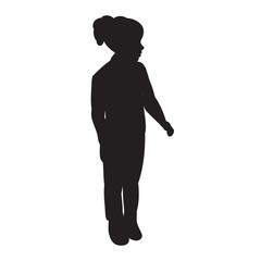 black silhouette girl