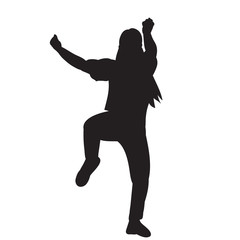 white background black silhouette girl dancing