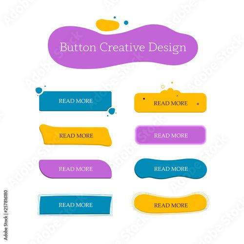 Button creative set  Navigation of website  Vector design template