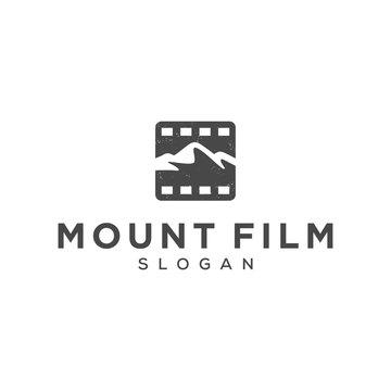 mountain film logo design