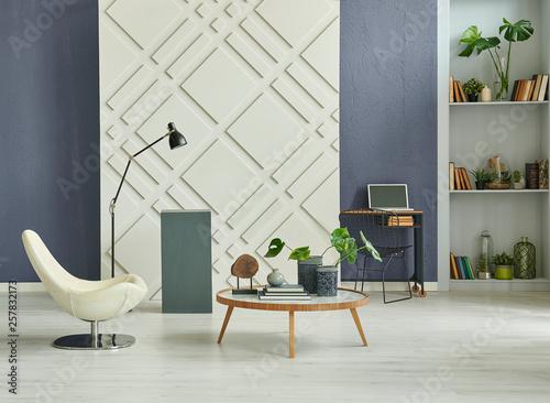 Fantastic Decorative Living Room Brown Textured Wall Dark Blue Stone Download Free Architecture Designs Saprecsunscenecom