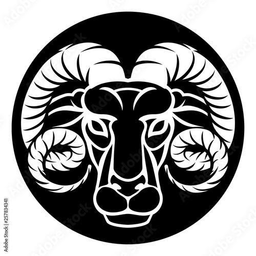 68147d96a An Aries ram horoscope astrology zodiac sign icon