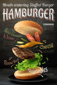 Hamburger poster design