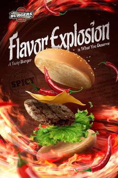 Hot chilly hamburger ads