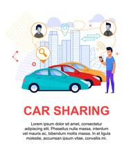 Car Sharing Flat Illustration. Transport Rent
