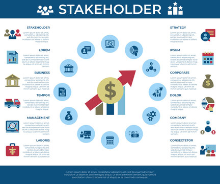 Business corporate stakeholder and company icons