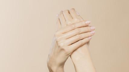 Fototapeta Female hands are nurturing obraz
