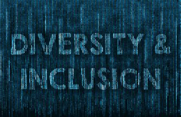 Diversity and Inclusion - matrix background illustration