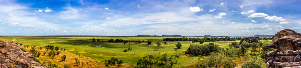 panorama from the Nadab Lookout in ubirr, kakadu national park - australia