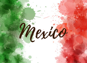Mexico abstract flag background