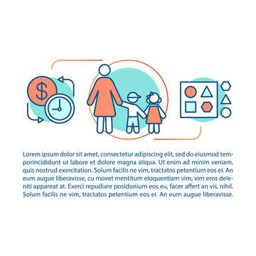 Babysitter concept linear illustration