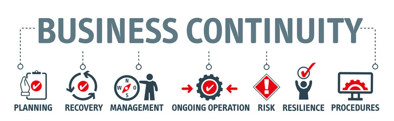 Banner Business continuity planning concept